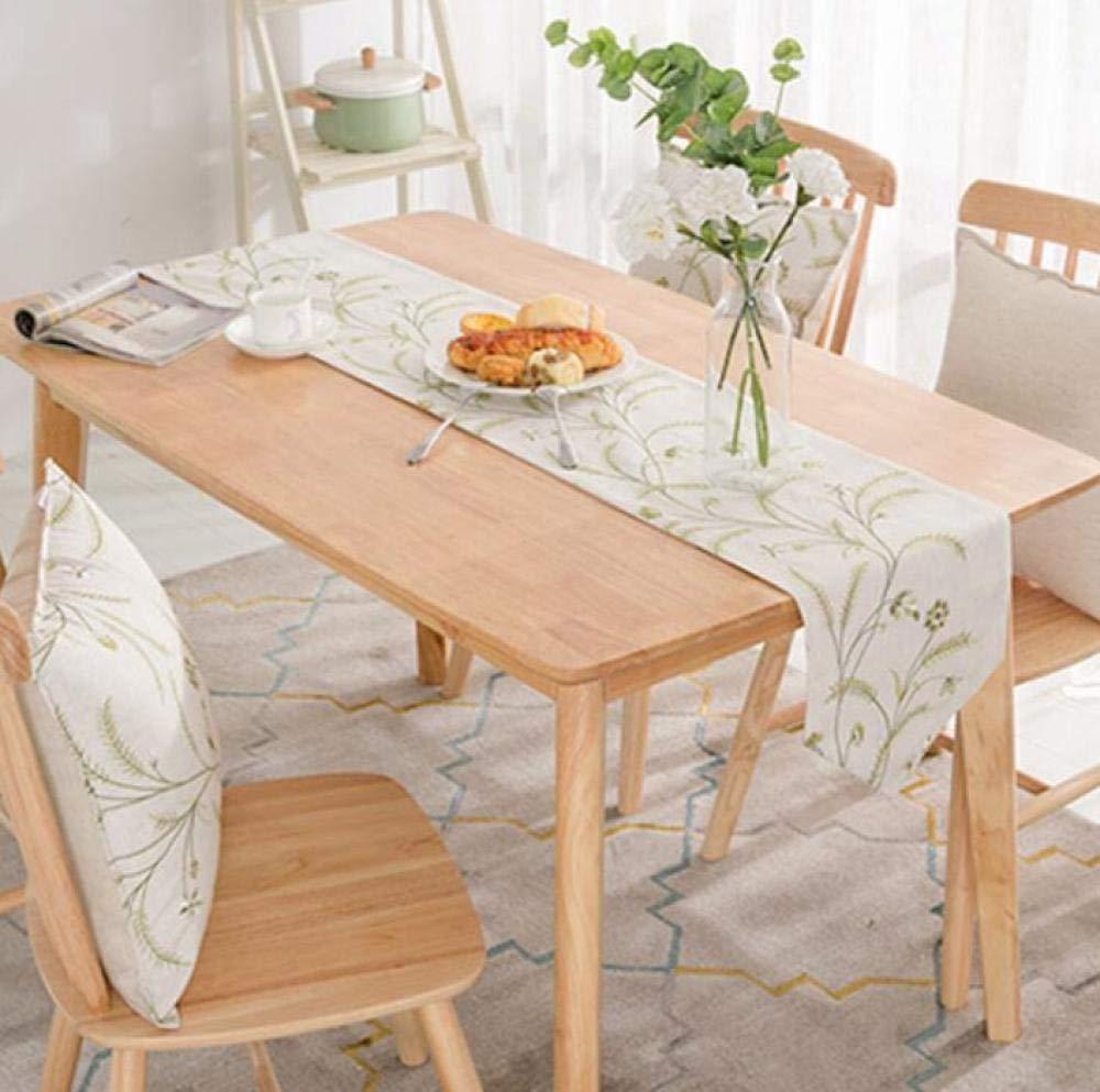CPHGG Runner per Feste e Compleanni per Bambini Zen Tisch-Tischfahne Einfache Klassische Klassische Baumwoll- und Leinen-Stickerei-Tischfahne