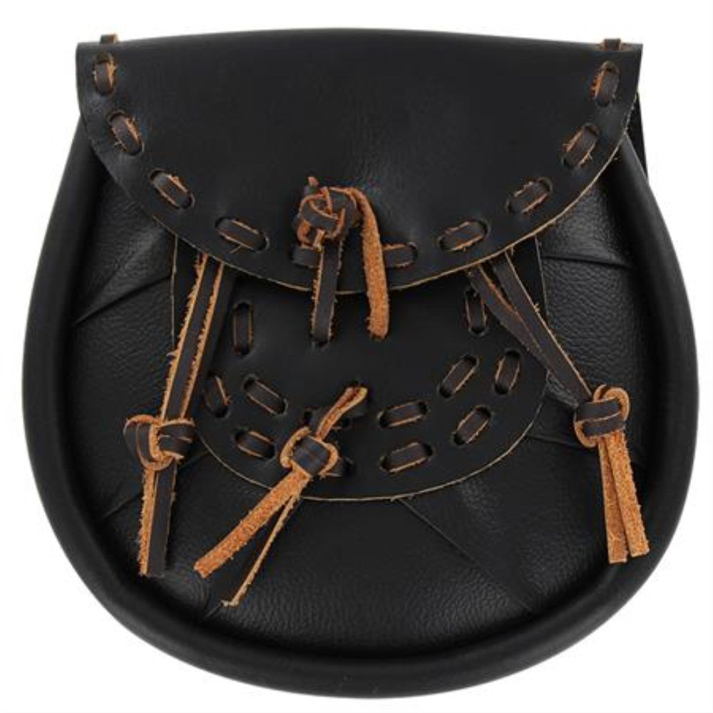 Polished Leather Scottish Leather Sporran Pouch