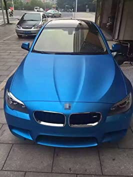 e60a3929c4 Image Unavailable. Image not available for. Colour: Car Styling Wrap Matt  Ice Light Blue Car Vinyl Film Body Sticker Car Wrap With Air