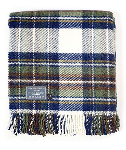 The Tartan Blanket Co. New Wool Knee Blanket Stewart Blue Muted Dress Tartan (30