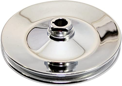 GM Chevy 67-84 BBC SBC LWP SWP Chrome Steel Single Groove Power Steering Pulley