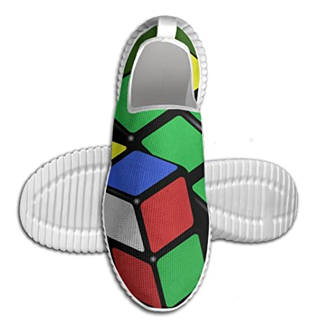 Colorful Rubik's Cube Lightweight Breathable Casual Running Shoes Fashion Sneakers Shoes
