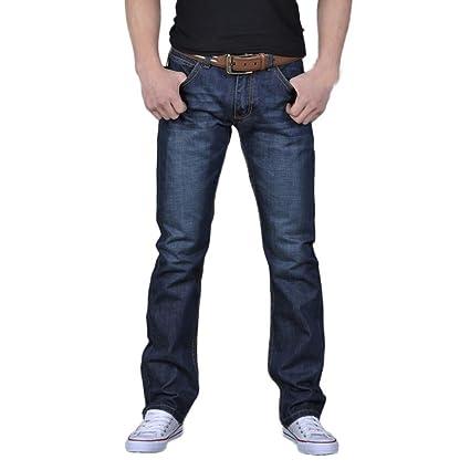5cae76283e Vaqueros Rectos Anchos para Hombre Loose Fit Series Hombre Pantalones  Vaqueros Relaxed Jeans STRIR (28