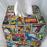 Madera caja de pañuelos Holder dispensador, cuadrado caja ...