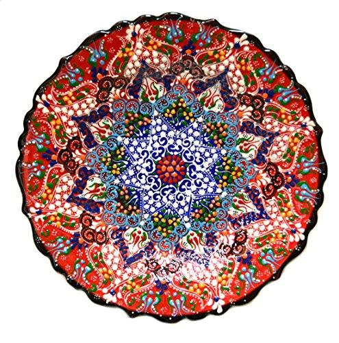 Turkish Ceramics~10 inch-25cm- Plate-red