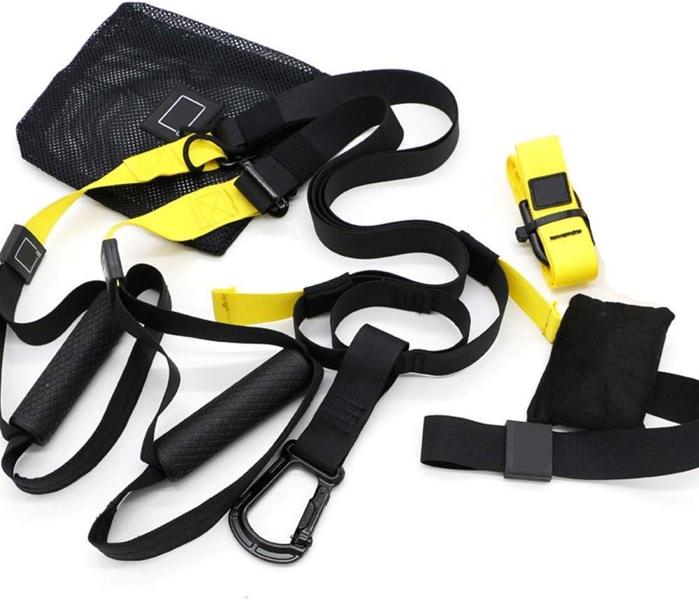 Kit de Correas de Resistencia de Peso Corporal, Entrenamientos de Gimnasio Profesional para Interiores, Viajes y al Aire Libre. Construir músculo Magro, Fuerza Central,Amarillo