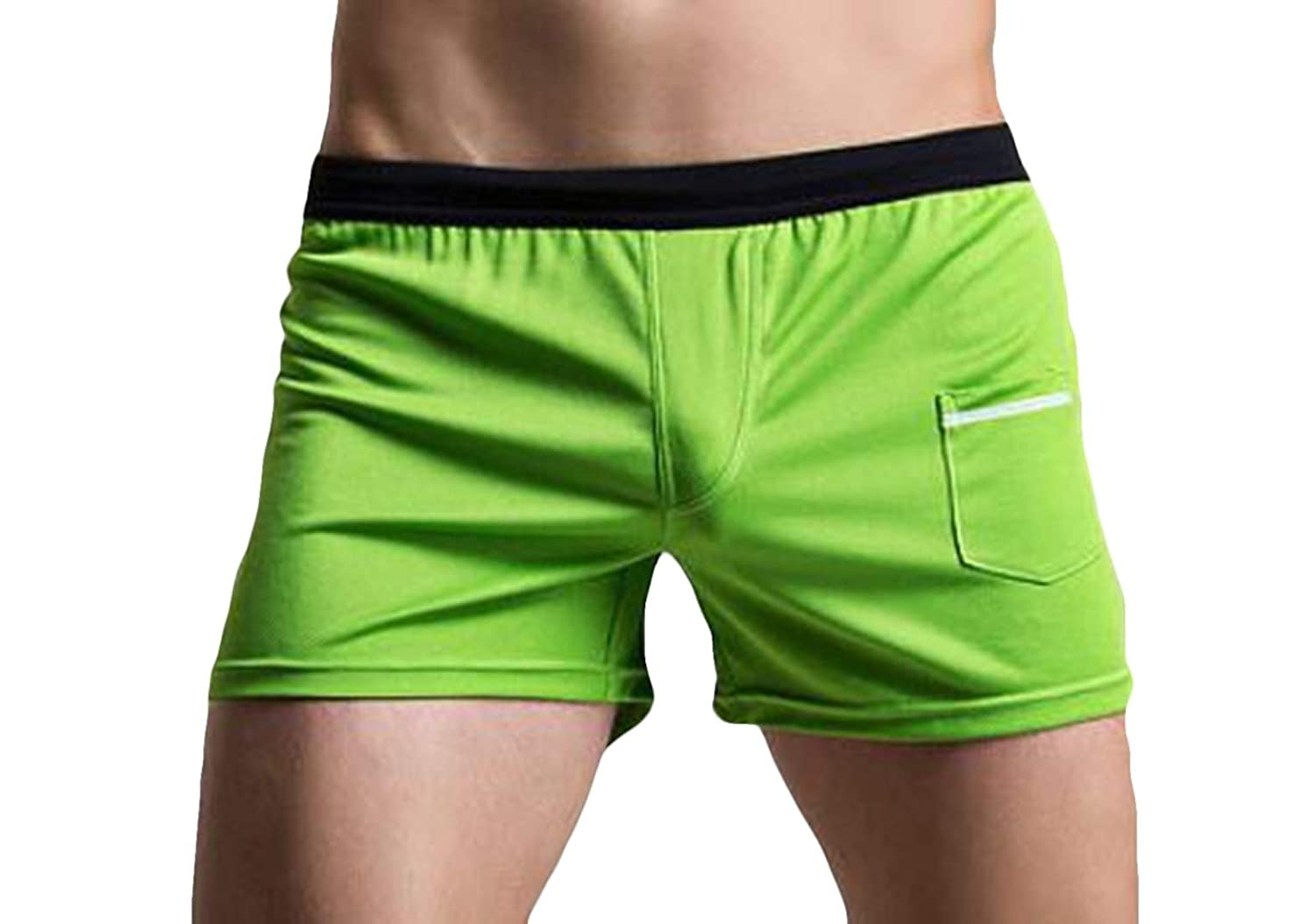 Nanquan Men Contrast Underwear Pockets Quick Dry Boxer Brief