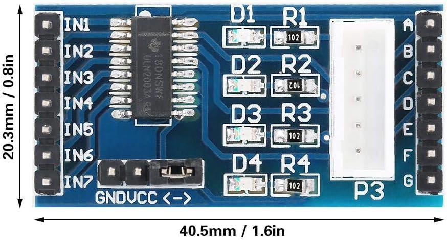 5 Pcs 5-12V ULN2003 Stepper Motor Driver Board Module for 28BYJ-48 Stepper Motor