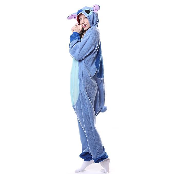 zeayea Adults Stitch Onesie Halloween Costumes Sleeping Wear Kigurumi  Pajamas(S) 491296e5a
