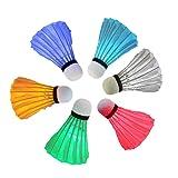 Gullor 6PCS buntes LED-Badminton Federbälle für Innen- / im Freiensportaktivitäten