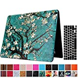 Macbook Air 13'' Case and Keyboard Protector, AICOO YCL 2 in 1 Beautiful Pattern Hard Case Cover With Keyboard Cover Skin For MacBook Air 13.3 inch (A1466/A1369) - Plum Blossom