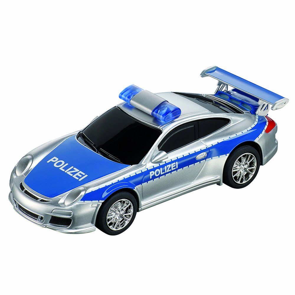 Carrera Go 20061283 Porch 997 GT3 Polizei True to Original Scale 1: 43 Special Tracks for More Action and Race Fun Cars Work with Turbo Button for The high Speed Kick