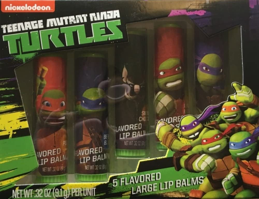 Nickelodeon Teenage Mutant Ninja Turtles Flavored Lip Balms, 5 pc