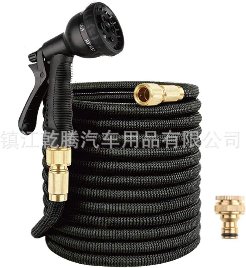 8 Functions car wash Hose Gardening Watering Rubber Hose Telescopic Hose high Pressure car wash Water Gun Brushing Tool Set 5 15 Meters 2.5--7.5m