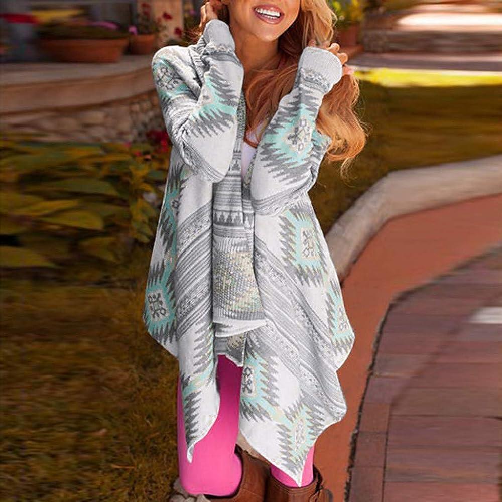 MISSWongg_Ropa para Mujer Estampado geométrico Abrigos Y Chaquetas Irregular Dobladillo Abrigos Mujer Outlet Elástico Puños Suelto Camiseta De Manga Larga Suave al Tacto Mantener Caliente Sudaderas: Amazon.es: Ropa y accesorios