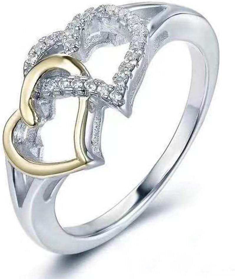 Amazon Com Dearanswer Double Love Rings Valentine S Day