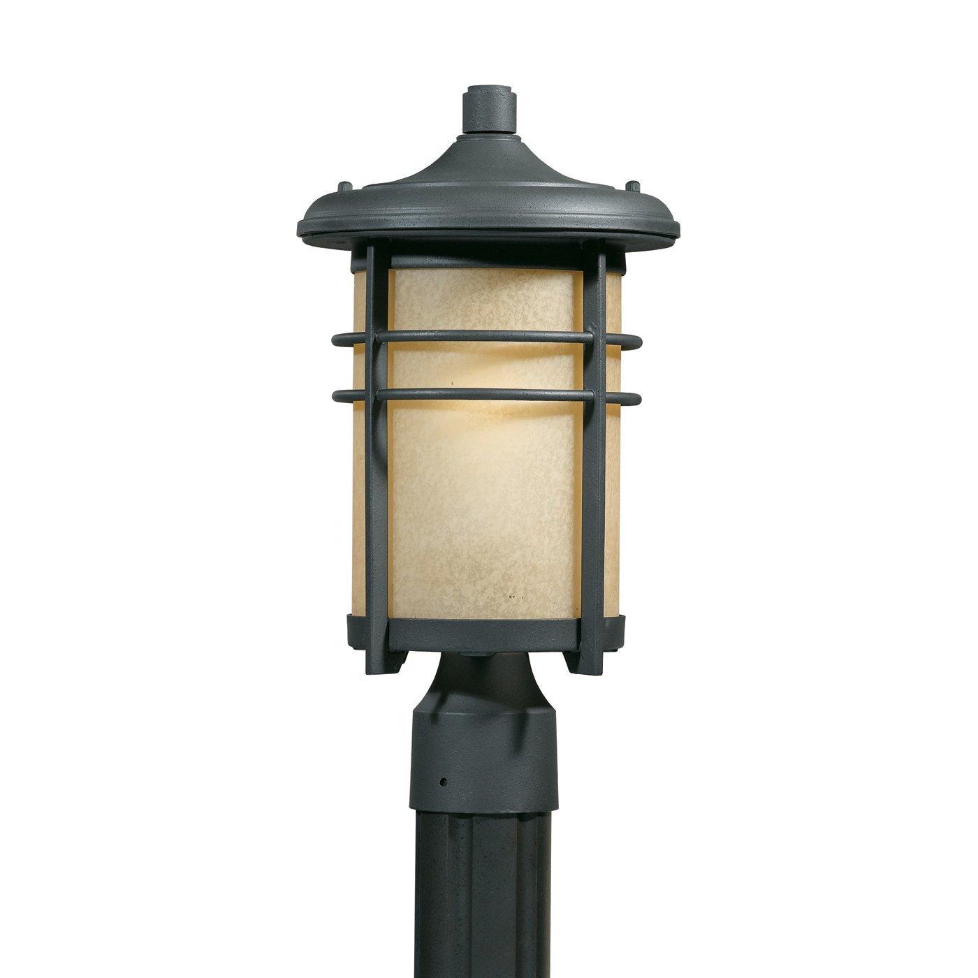 Triarch 78155-10 Fluorescent Head Post Mount Light, Blacksmith by Triarch International