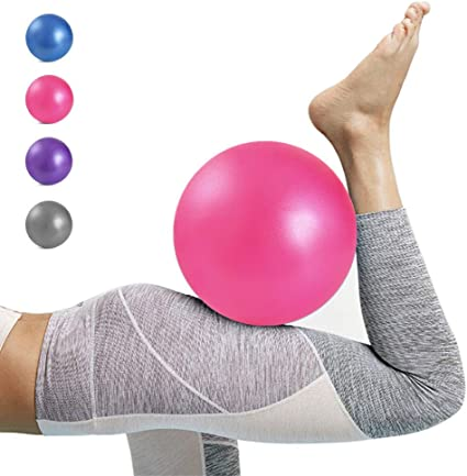 Mini Exercise Barre Ball 9 Inch for Yoga,Pilates,Stability Therapy Body Balance Physical Core Training Gym Anti Burst and Slip Resistant Balls with Inflatable Straw