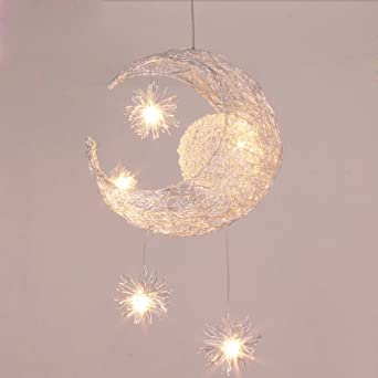 Midore moon and stars fairy ceiling light for children bedroom midore moon and stars fairy ceiling light for children bedroom lighting decoration mozeypictures Gallery