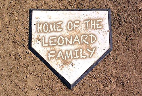 Personalized Dirty Home Plate Custom Baseball Door Mat