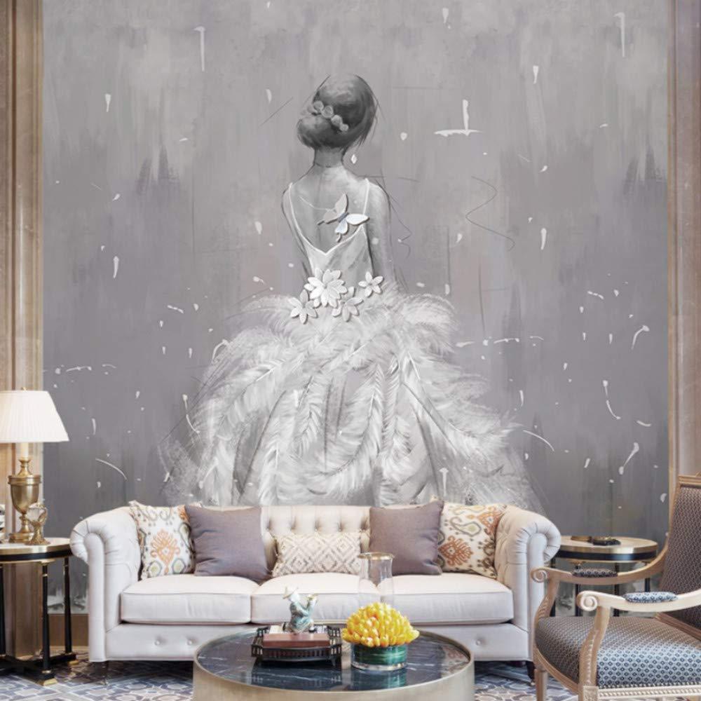 Wiwhy Pintura Pluma Vestido De Boda 3D / 8D L Murales 3D Lpaper ...
