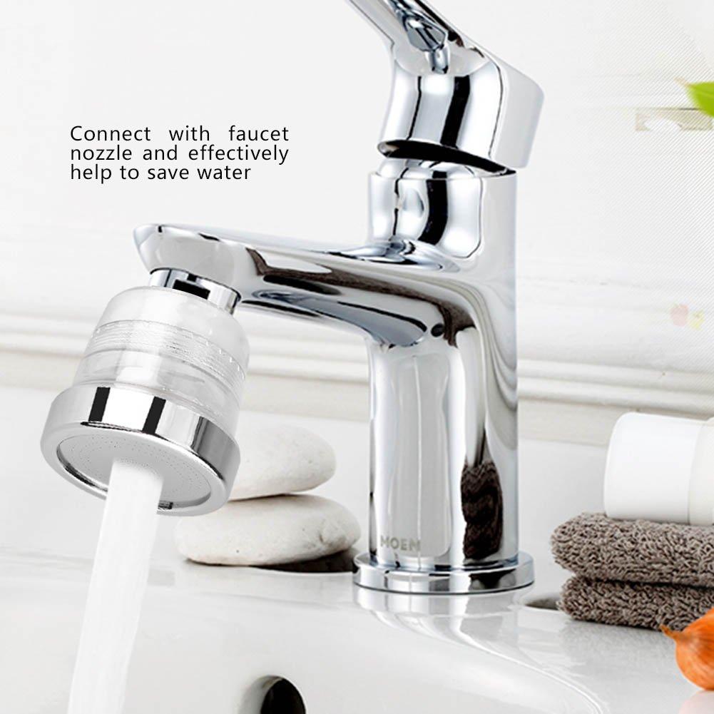 Zerodis 3/modalit/à di spruzzo ad alta pressione acqua risparmio rubinetto ugello filtro compatibile per casa cucina bagno lavandino accessori