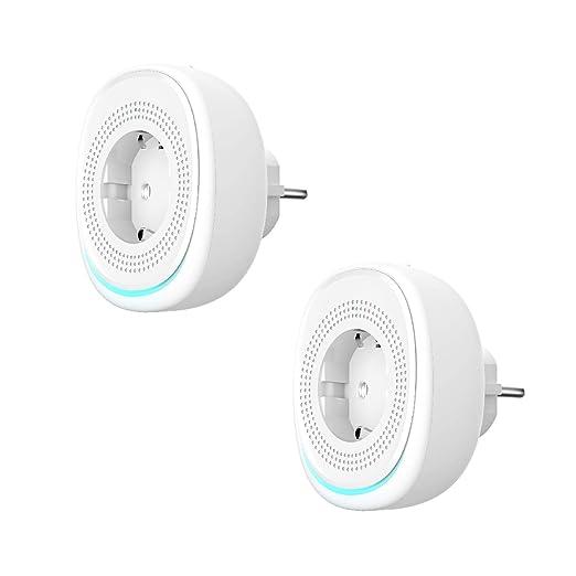 RAOYI Enchufe Inteligente WiFi con Puerto USB y Lámpara LED ...
