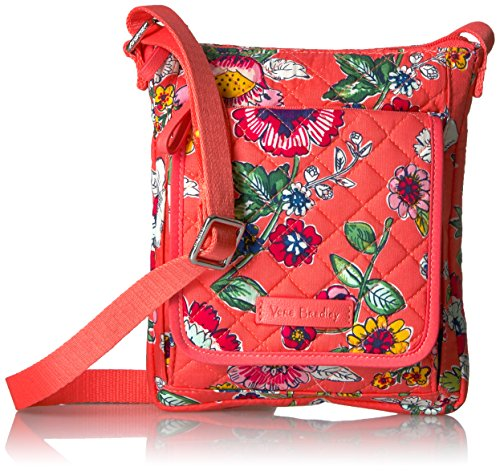 Vera Bradley Iconic RFID Mini Hipster-Signature, Coral Floral