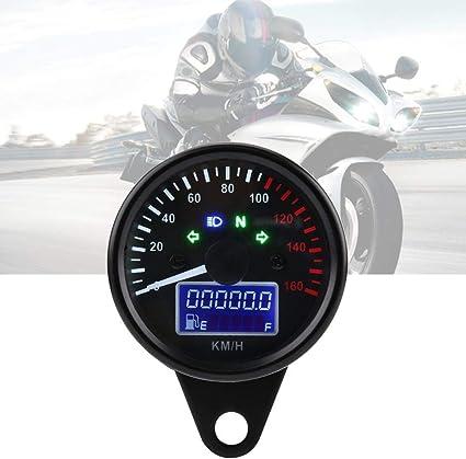 Tachometer Lehre Motorrad Geschwindigkeitsmesser Universal Retro Digital Led Lcd Motorrad Tacho 0 160 Km H Schwarz Auto