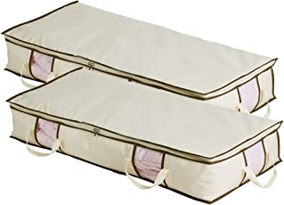 MISSLO Jumbo Under The Bed Organizer for Comforters Blanket Storage Set of 2  sc 1 st  Amazon.com & Shop Amazon.com | Under-Bed Storage