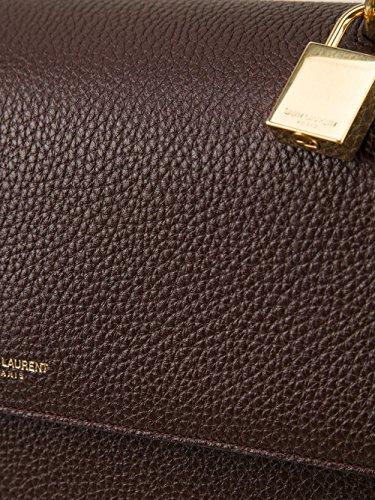 YSL Saint Laurent Medium Moujik Top Handle Bag in Burgundy Grained ...