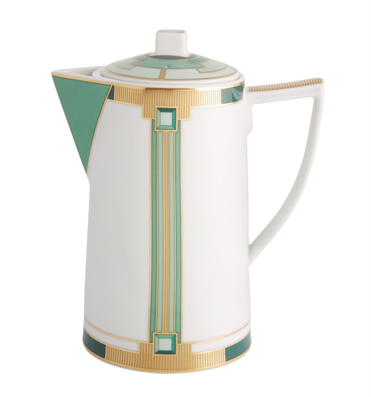 VISTA ALEGRE - EMERALD (Ref # 21122001) Porcelain Coffee Pot - 30oz by Unknown