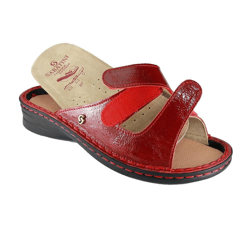 Sabatini 1812 Rosso Gloss - PREZZO RIBASSATO - Calzatura comoda, plantare estraibile - Vera pelle - 36, Rosso, primavera/estate
