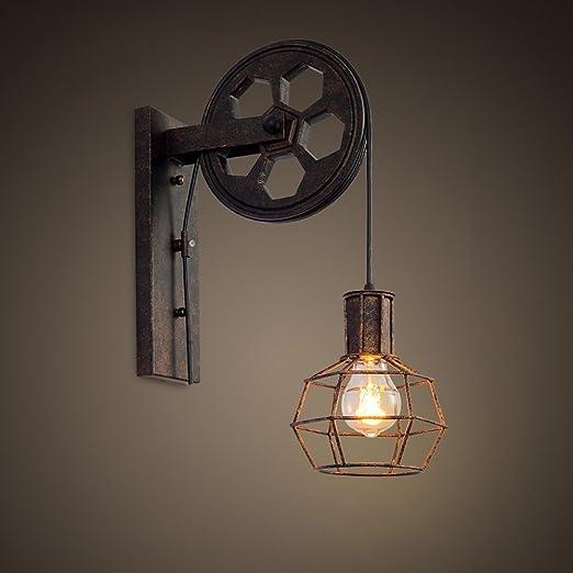 pulley lighting. Loft Industrial Retro Wall Lamp Single Head Lifting Pulley Light Fixture Lighting