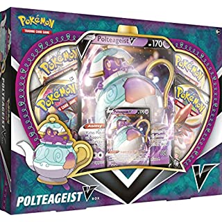 Pokemon TCG: Polteageist V Box | 4 Booster Packs | 1 Foil Card | 1 Oversize Card | Genuine Cards