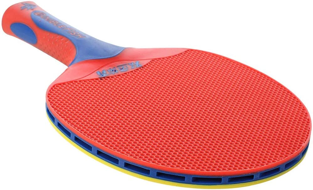 Candybarbar Raqueta de Tenis de Mesa de plástico de Doble pez