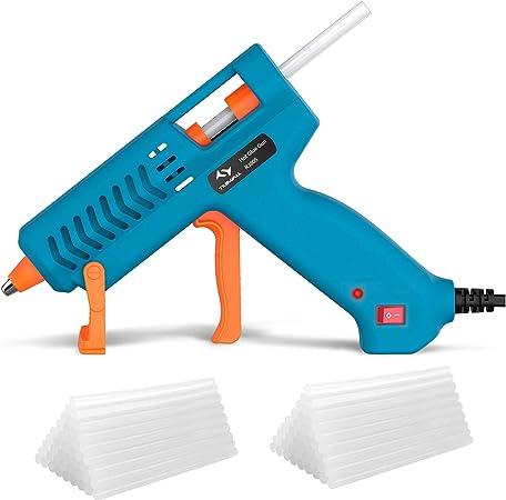 50Watt Klebepistolen Hei/ßklebepistole Transparente Klebepistole mit 36 Sticks f/ür DIY Kunst Handwerk schnelle Reparaturen in Haus /& B/üro