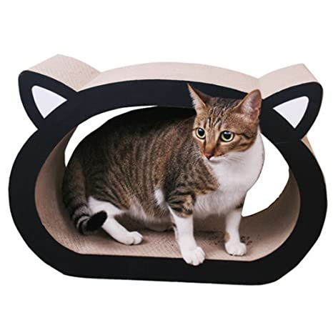 Legendog Gato Rascador de Tablero, Cojín Que Rasga del Gato Cabeza Grande del Gato en