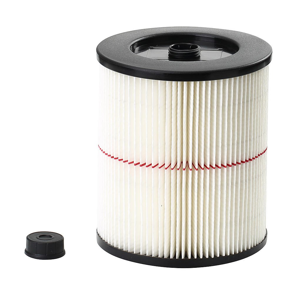 Craftsman 9-17816 General Purpose Red Stripe Vacuum Cartridge Filter, 8.5 Inches – White/Red