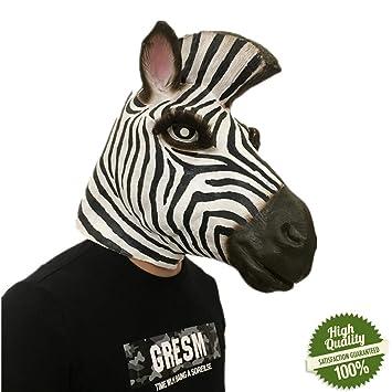 Morbuy Máscara de Cabeza Animal de Látex, Adulto Látex Novedad Interesante Cabeza Máscaras Halloween Cara