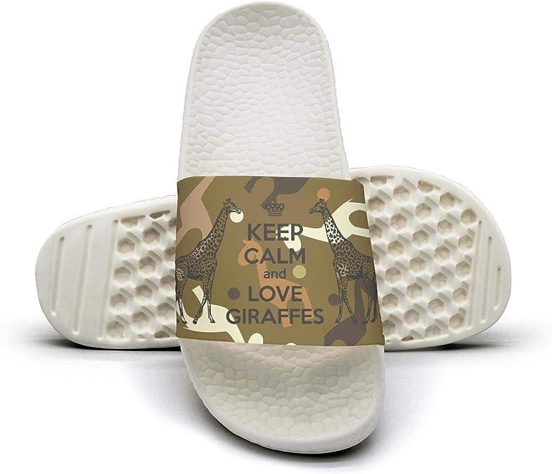 Mens You arent Even On My Level Giraffe Non-Slip Soft Foams Slipper Home Slide Sandals