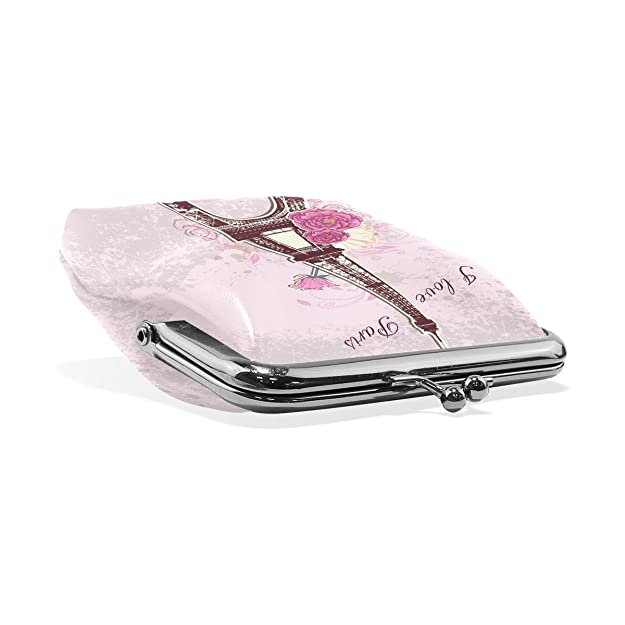 Amazon.com: wozo Rosa París Torre Eiffel Rose Mini cartera ...