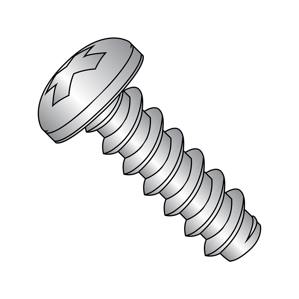 #4-24 Thread Size 18-8 Stainless Steel Sheet Metal Screw Small Parts 0428BPP188 Pan Head Type B 1-3//4 Length 1-3//4 Length Phillips Drive Plain Finish Pack of 50 Pack of 50