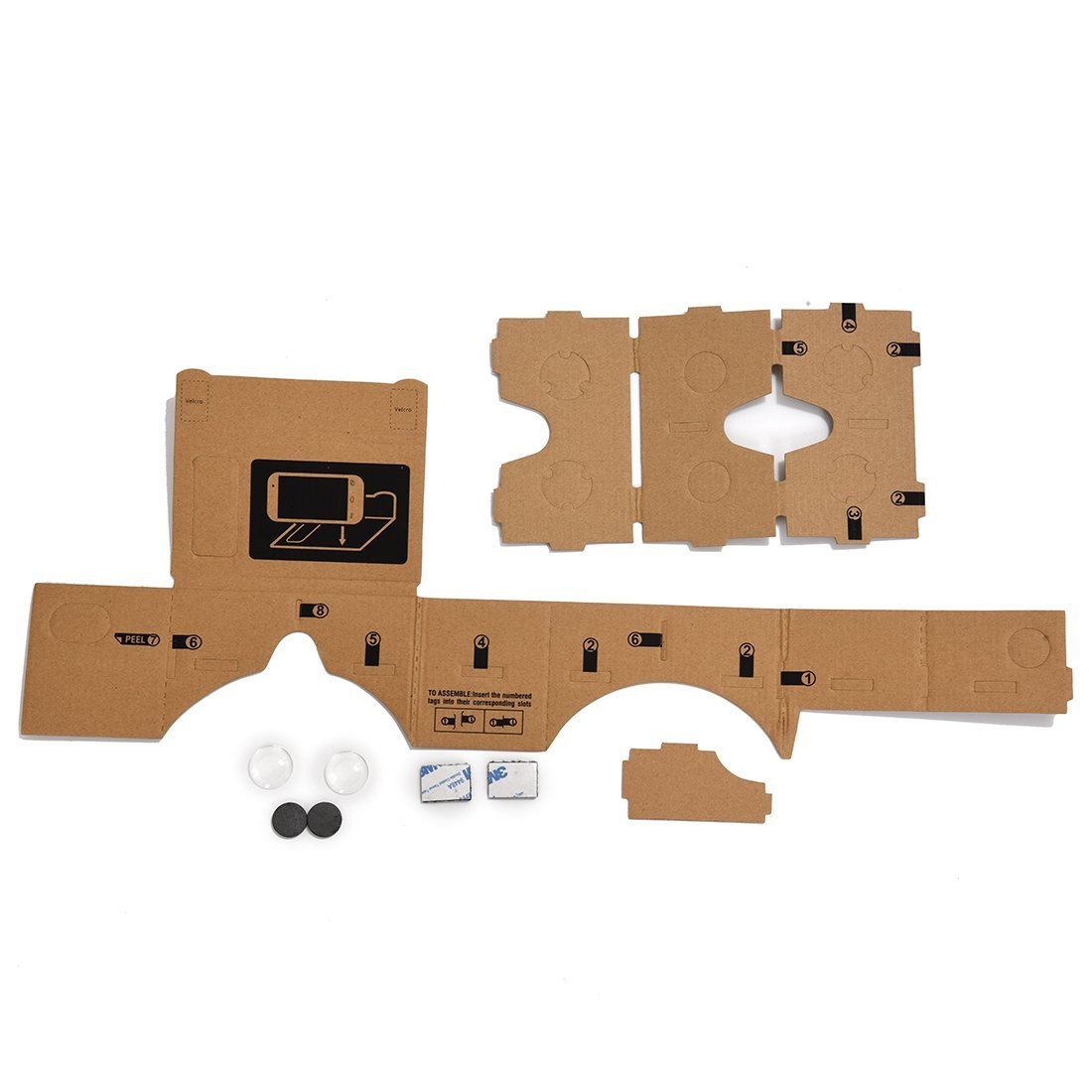 3D Virtual Reality Glasses - TOOGOO (R) Mobile phone cardboard quality 3D Virtual Reality Glasses
