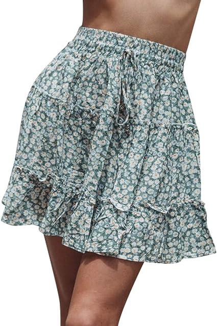 Falda de mujer de verano, cintura alta, falda de playa, sexy y ...
