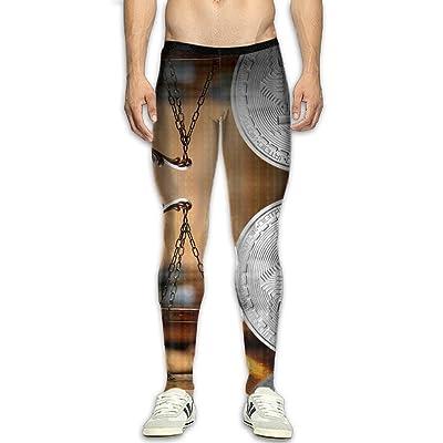 Fri Bitcoin Rich Compression Pants/Running Tights Cycling Pants Men Christmas
