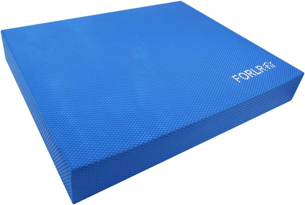 FORLRFIT Balance Pad for Physical Therapy,Non-Slip Foam Balance Cushion for Yoga,Fitness Training, Core Balance,Strength Stability- Standing Mat,Knee Pad Foam mat