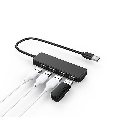 ZHOUZEKAI USB 2.0 de 4 puertos | Divisor de 4 puertos | PC y MAC |