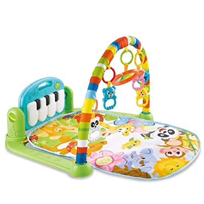 ღDOOIOR Large Baby Game Pad Music Pedal Piano Music Fitness Rack Crawling Mat: Kitchen & Dining