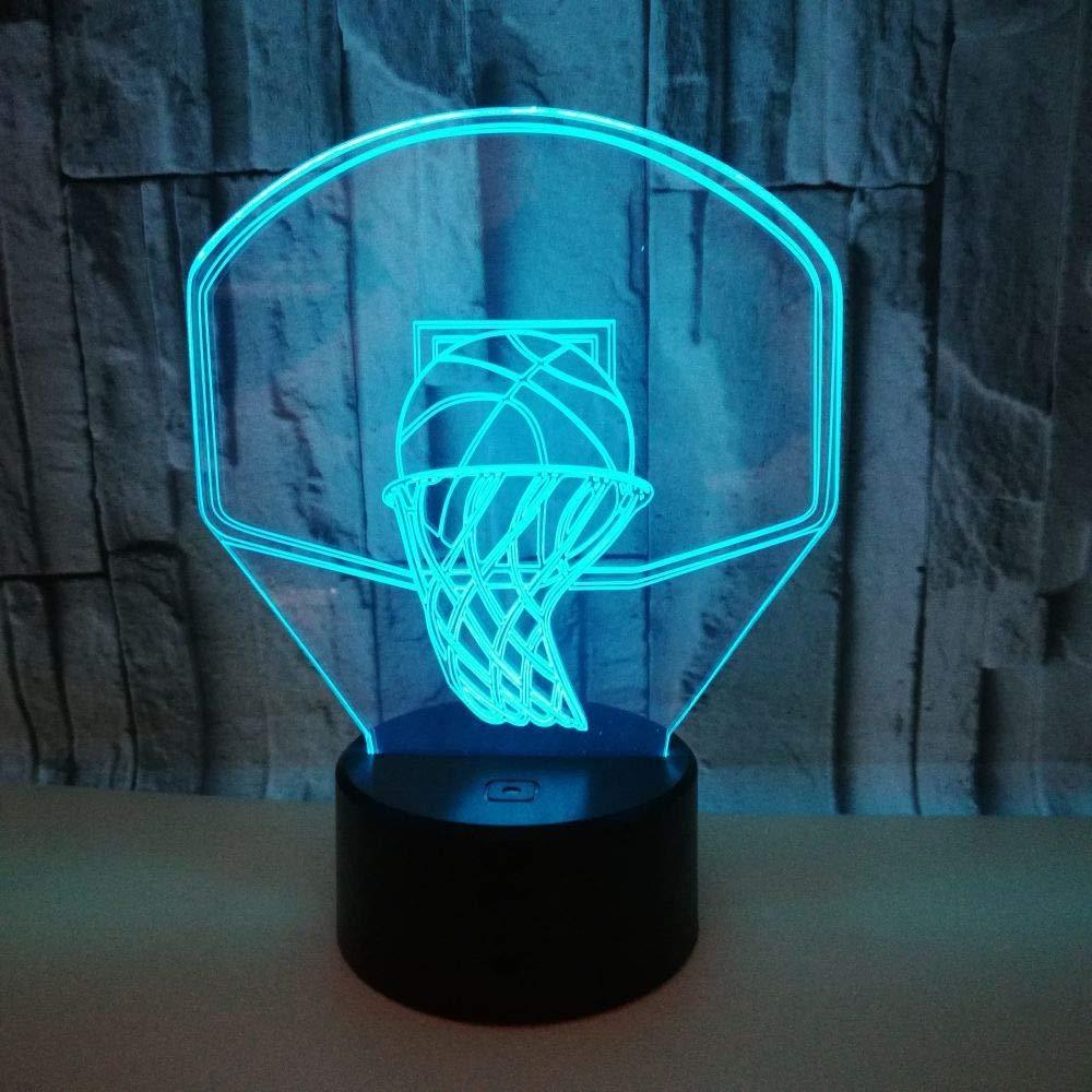 BFMBCHDJ Baloncesto acrílico Ilusión óptica Lámpara de lava 3D ...